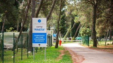 Entrance, camp Pineta